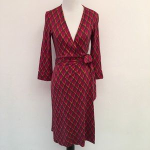 Diane von Furstenberg Vintage Long Wrap Dress Sz 4